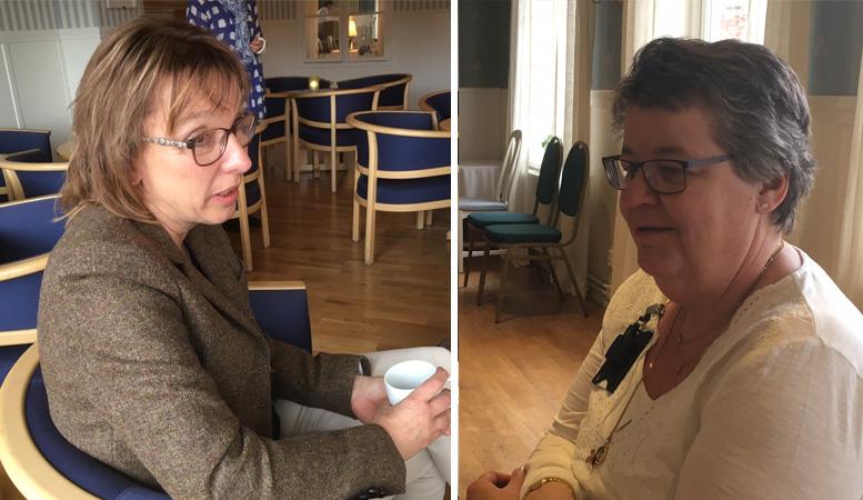 Marianne Falk och Annette Myhrberg på TENAs inspirationsdag i maj.